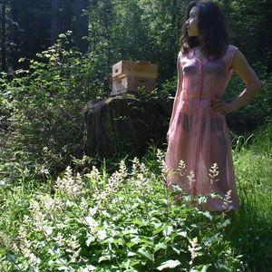 Sheer pink vintage dress